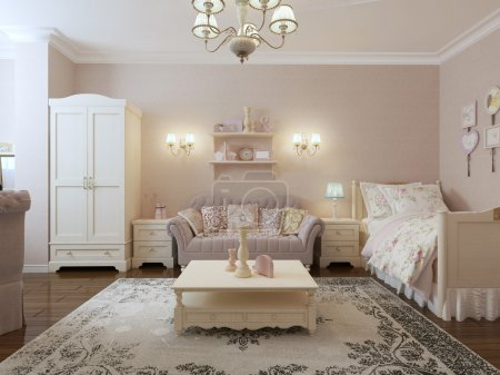 Renaissance bedroom-living room