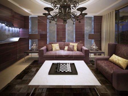 Photo for Modern living room design. 3d render - Royalty Free Image