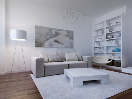 Bright living room design