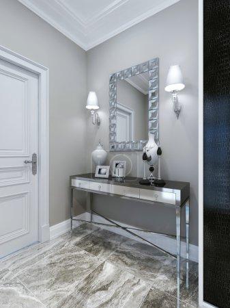Photo pour Console et miroir à hall. rendu 3D - image libre de droit