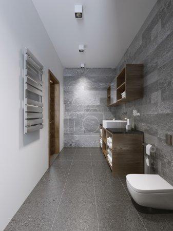 Bright modern bathroom interior