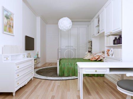 Bright bedroom art deco style