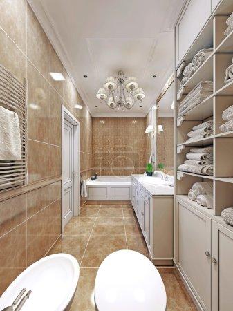 Elegant  provence bathroom design