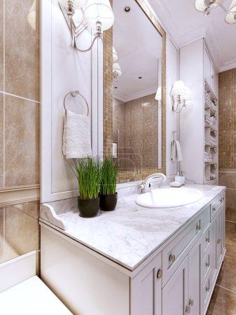Art deco bathroom trend