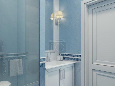 Design of modern bathroom