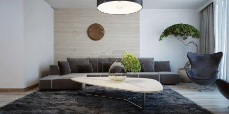 Idea of contemporary living room