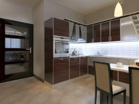 Kitchen in contemporary style