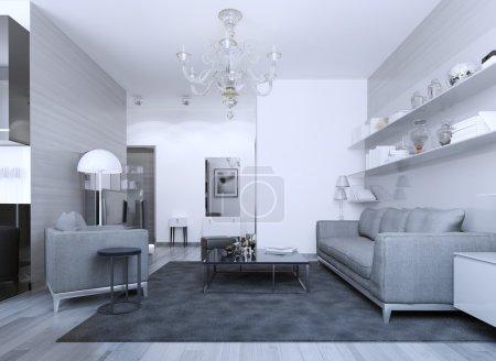 Cozy modern gothic lounge