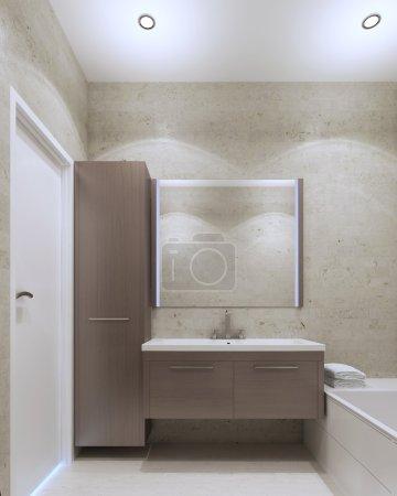Minimalist private bathroom interior