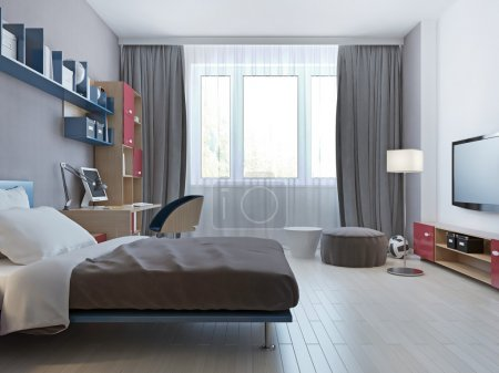 Bright bedroom minimalist style