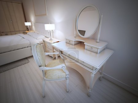Dressing table in provence bedroom