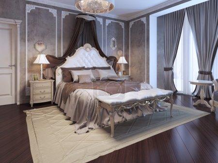 Luxury interior of art deco bedroom