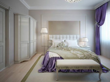 Guest bedroom neoclassic style
