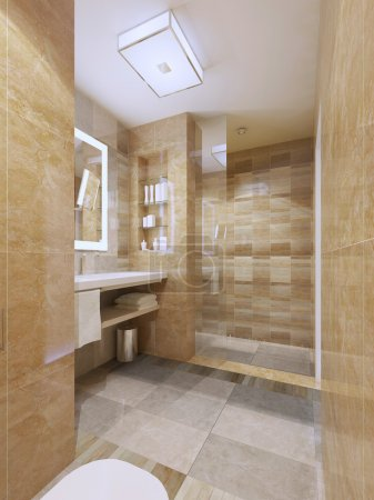 Contemporary design of bathroom
