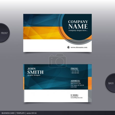 Illustration for Vector abstract creative business card design template. - Royalty Free Image