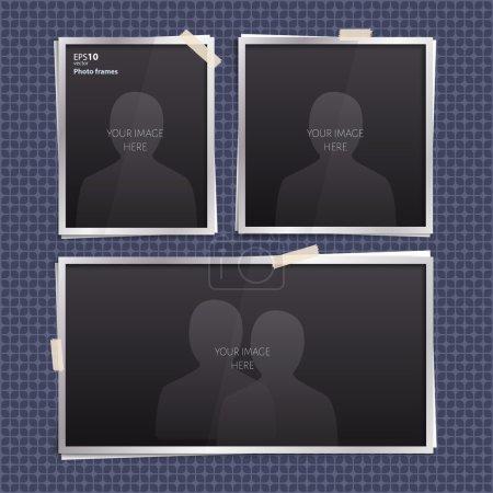 Set of empty photo frames.
