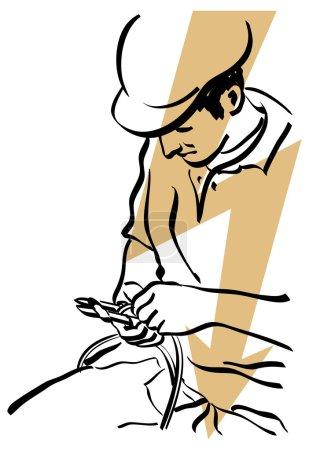 Illustration pour Électricien - image libre de droit