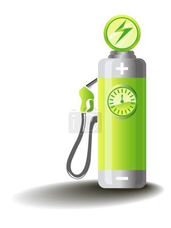 Illustration pour Illustration symbolique pour la mobilité électrique . - image libre de droit