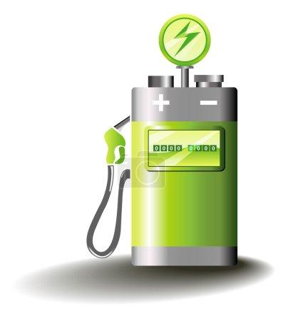 Illustration pour Illustration symbolique pour la mobilité électrique - image libre de droit