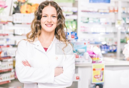 Pharmacist portrait in a store