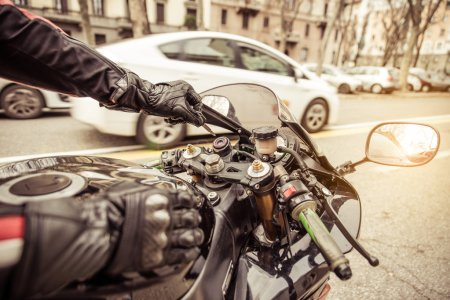 motorcycle ignition. concept about transportation