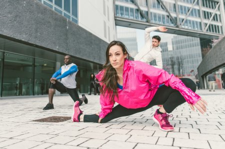 Group of urban runners