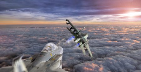 Photo for Fight between aircrafts - Royalty Free Image