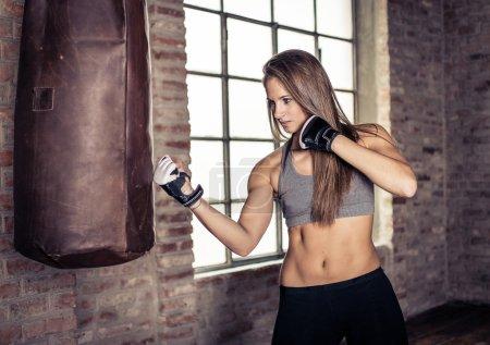 Photo pour Concept de sport et de la boxe - image libre de droit