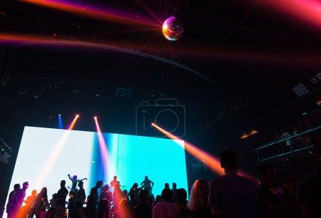 People dancing in club