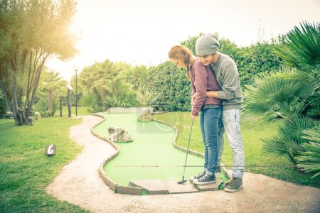 Couple at golf club
