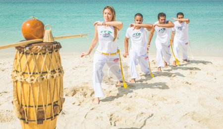 Capoeira on the beach