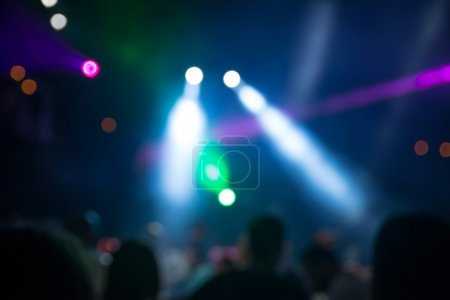 Photo for Blurred disco party. defocused concept about disco night party. people dancing in the mix of music and lights - Royalty Free Image