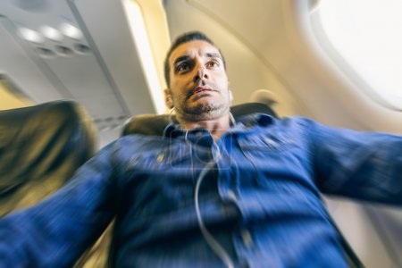 Airplane passenger panic