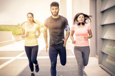 Urban runners training