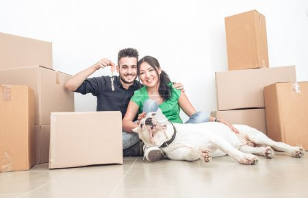 couple moving new home