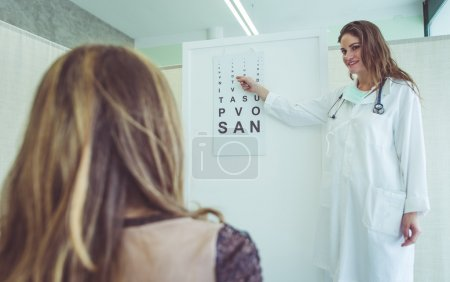 medical test at the oculist