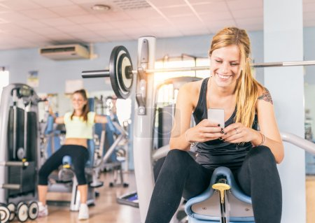 Woman in a fitness club