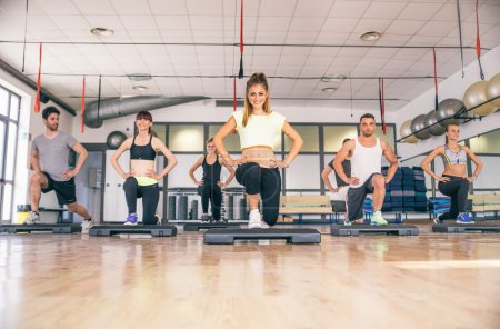 Cardio workout ina gym