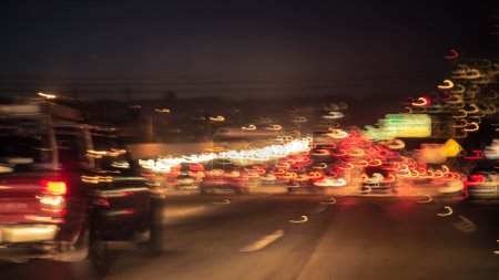 artistic image of the traffic jam