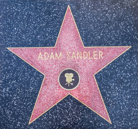 Photo for HOLLYWOOD,CA - OCTOBER 8,2015: Adam Sandler star on Hollywood Walk of Fame in Hollywood, California. This star is located on Hollywood Blvd. and is one of 2400 celebrity stars. - Royalty Free Image