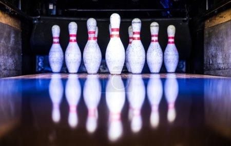 Bowling white pins