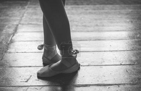 Dancer feet close up