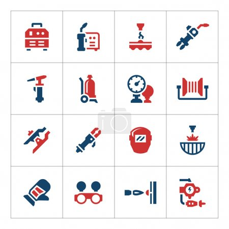 Set color icons of welding