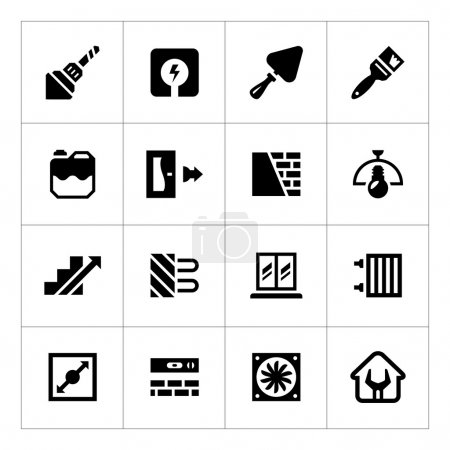 Set icons of repair and building