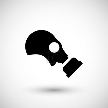 Illustration for Gas mask icon isolated on grey. Vector illustration - Royalty Free Image