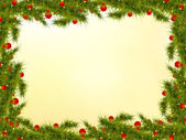 Winter  background with   branches of Christmas tree and place f