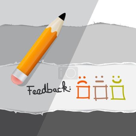 Vector Feedback Symbols with Pencil