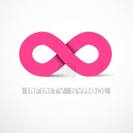 Pink Vector Infinity Symbol
