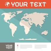 Světová mapa papír řez vektor