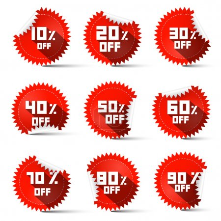 Ten to Ninety Percent Off Red Labels